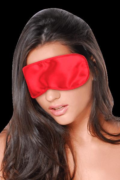 Augenmaske aus Satin - rot