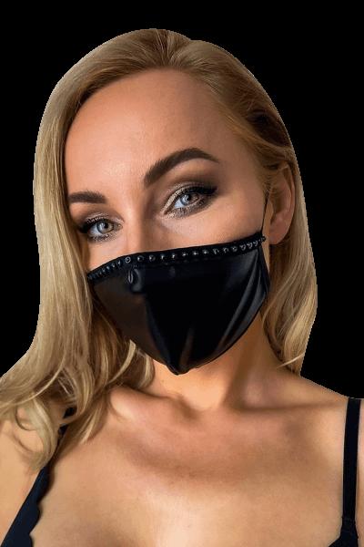 Mund- und Nasen-Maske mit Ziernaht