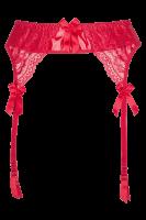 Strapsgürtel mit Wetlook Plus Size in rot