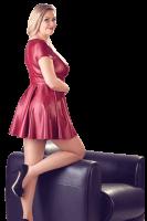 Rotes Wetlook Minikleid Plus Size