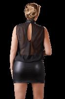 Wetlook-Chiffon-Kleid Plus Size