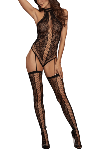 Straps-Bodystocking mit Cut-Outs