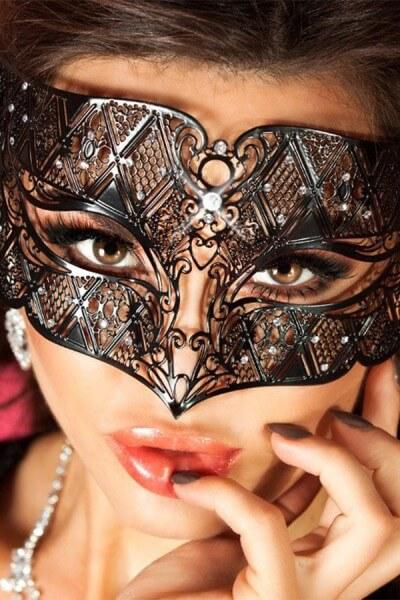 Maske Veneziana - Messing