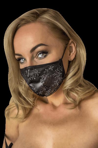 Mund- und Nasen-Maske mit Spitze