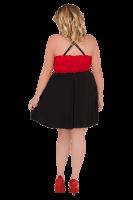 Kleidchen schwarz/rot Plus Size