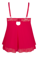 Rotes Babydoll Plus Size