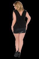 Minikleid schwarz Plus Size