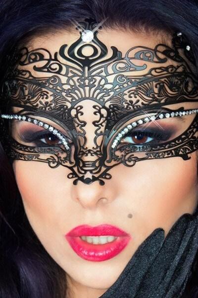 Maske Mystery - Messing