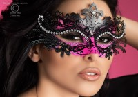 Glitzernde Maske  - Messing